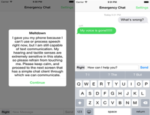 Emergency Chat AAC App